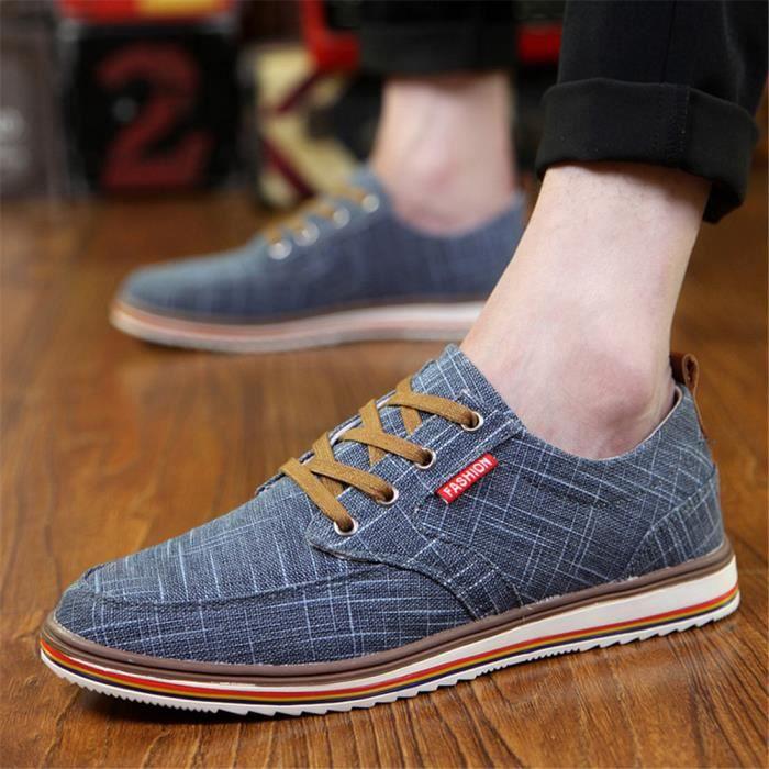 Hommes Sneaker AntidéRapant Chaussures De Sport Qualité SupéRieure Chaussure De Sport Denim Plusieurs Couleurs 38-48,bleu,38