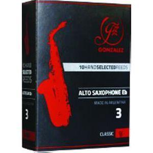 ANCHE - ROSEAU Boite de 10 anches Gonzalez Saxophone Alto Classiq