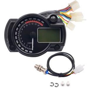 COMPTEUR l'indicateur de vitesse moto digital à lumière lcd