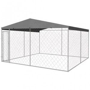 ENCLOS - CHENIL Chenil couvert grillagé pour chiens 4x4M CS1422951