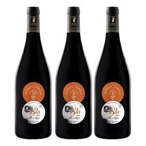 VIN ROUGE 3 Bouteilles - Vin Rouge 1922 Héritage - AOP Corbi