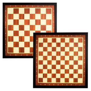 JEU SOCIÉTÉ - PLATEAU Jeu de dames et d'échecs Abbey avec bordure marron