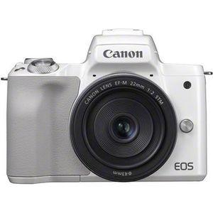 APPAREIL PHOTO HYBRIDE Appareil photo hybride CANON EOS M50 blanc + EF-M1