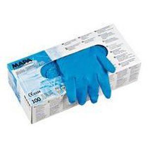 GANT MÉNAGE - VAISSELLE Paire de gants jetables Mapa latex non poudré bleu