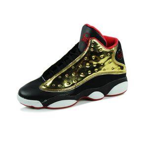 Mode hommes de basket - ball chaussures respirant chaussures de sport de plein air automne cheville bottes hommes bottes Doré cZQLD