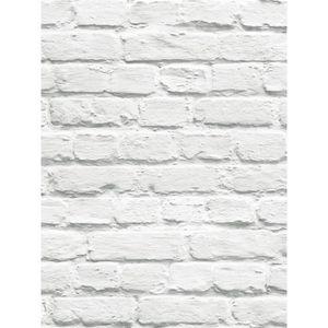 Papier peint brique blanc achat vente papier peint for Papier peint ecran