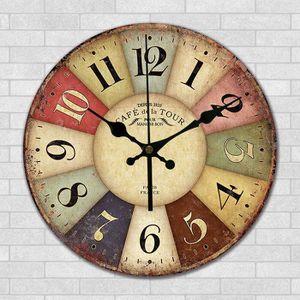 HORLOGE - PENDULE Horloge Murale Style Ancienneté Sans Couverture Sa
