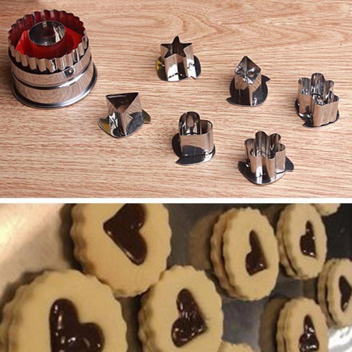 EMPORTE-PIÈCE  7 PCS Diy cuisson gâteau cookies pâtisserie cutter