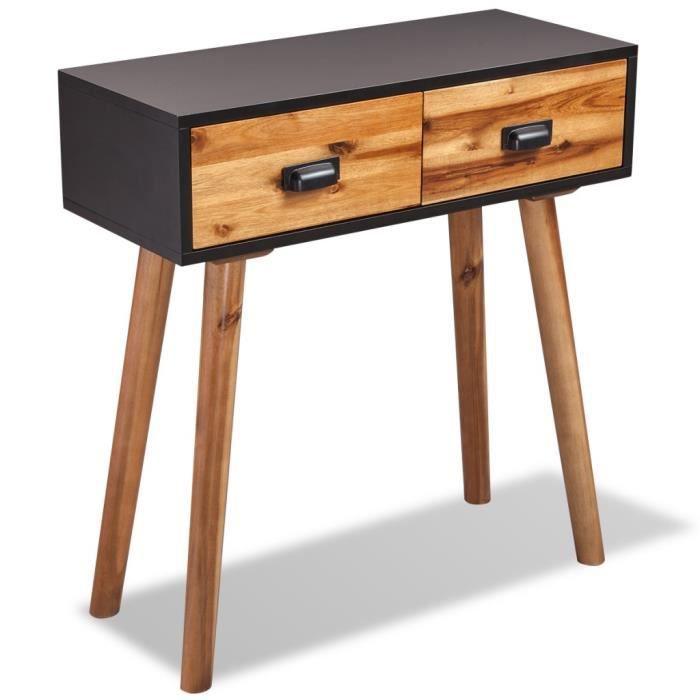 console en bois 30cm achat vente console en bois 30cm pas cher soldes d s le 10 janvier. Black Bedroom Furniture Sets. Home Design Ideas