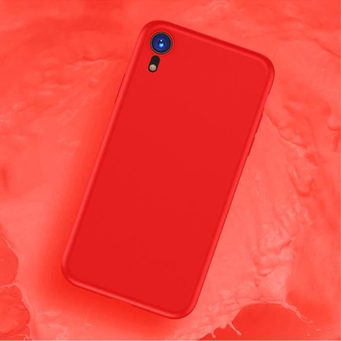 coque iphone xr silicone rouge apple