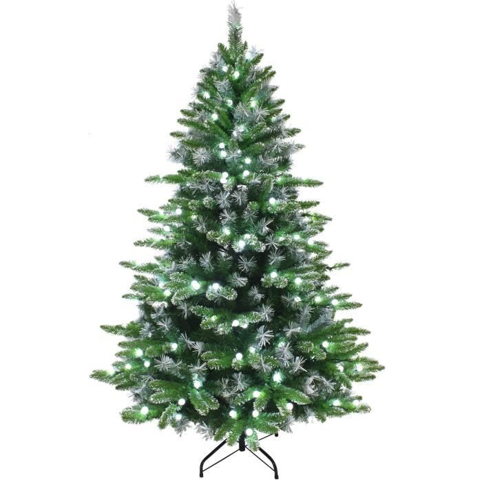 sapin de no l artificiel luminosa 250 led 1155 branches 210 cm vert achat vente sapin. Black Bedroom Furniture Sets. Home Design Ideas