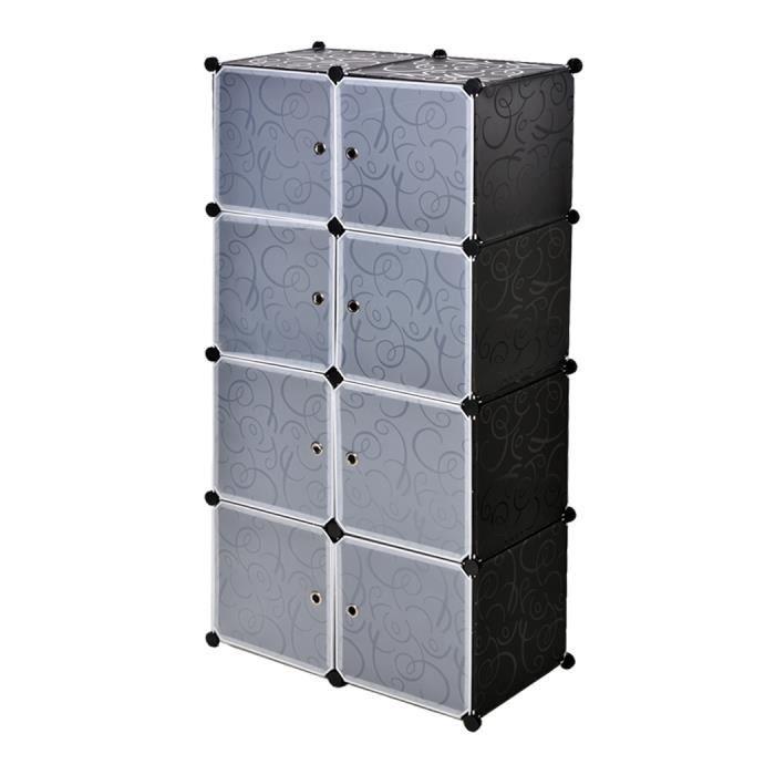 Meuble armoire bricolage en plastique 8 stockage en cubes tag re armoire salle de bain garde - Meuble en plastique ...