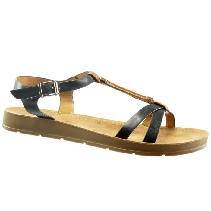 ba8be8cdcaa008 Angkorly - Chaussure Mode Sandale salomés ouverte femme métallique ...