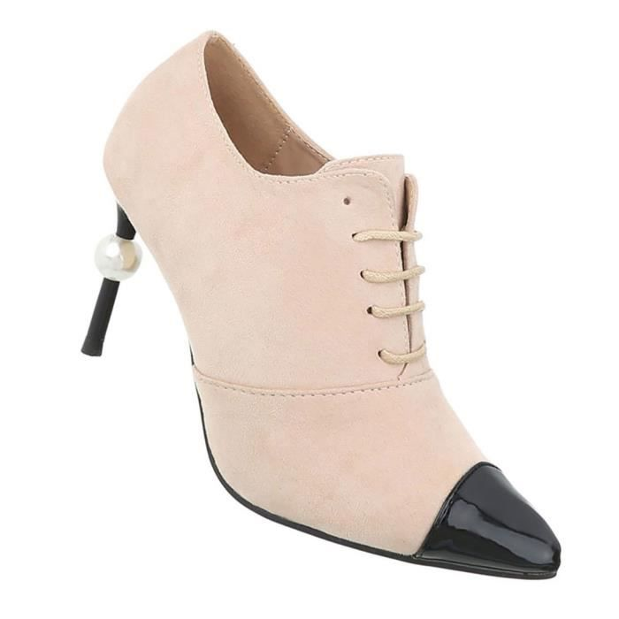 Chaussures femmes bottillon High Heels l'escarpin Beige 41