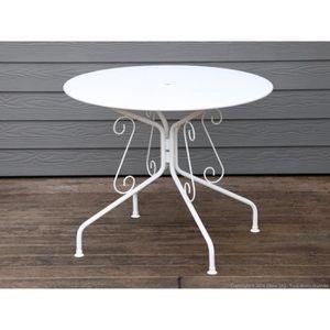 Fauteuil rond blanc achat vente pas cher - Salon de jardin rond en fer ...
