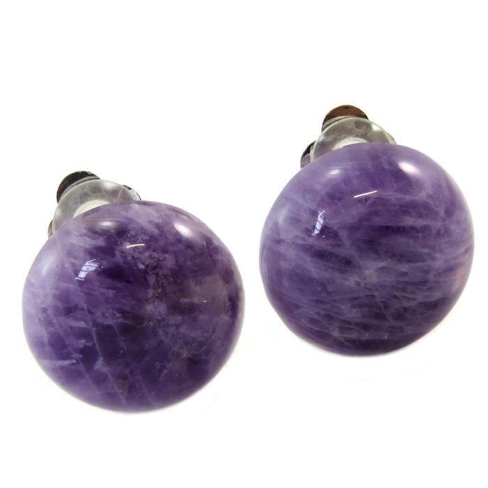 Clips Créateur Mineralia violet améthyste - 20 mm [P5617]