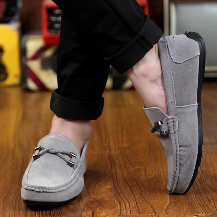 Chaussures pois jeunes-Chaussures de sport pour hommes -Pied chaussures de conduite-Respirants chaussures d'Angleterre... S1DCO