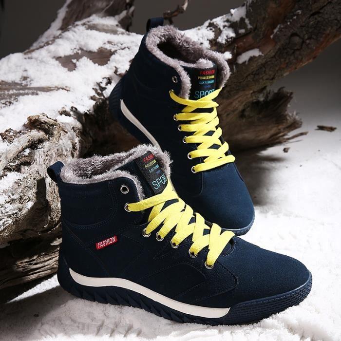 noir hommes Chaud foncé montantes Conseil d'hiver de Mode vert 39 Chaussures Bottes cachemire 45 neige foncé plus bleu OOwUqd