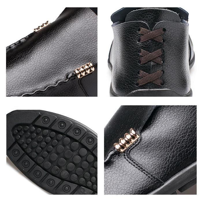 Mocassin DTG Hommes Detente Ete XZ75Noir40 Comfortable Mode Chaussures PPqH7w