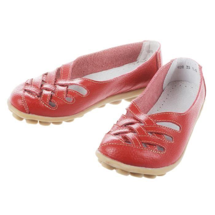 IN-TRAV INDEPENDENT TRAVEL sandale en cuir veritable pour femme sandales plate pour femme Chaussures pour ete NsrptRA