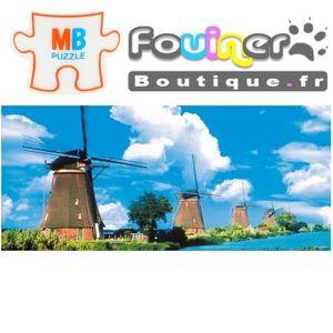 PUZZLE Jouet Puzzle MB Panoramique 1000 pcs Les moulins d