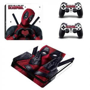 STICKER - SKIN CONSOLE Version YSP4S-1442 - Marvel Deadpool Ps4 Slim Peau