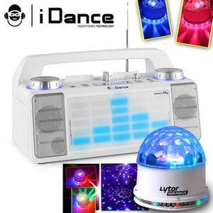ENCEINTE ET RETOUR Enceinte IDANCE XD2 50W à LEDs bleu AUX/FM/USB/FAD