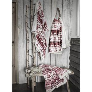 COUVERTURE - PLAID TODAY Plaid en polyester - 125 x 150 cm - Rouge