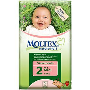 COUCHE Moltex 44 Couches jetables ecologique Mini 3 6kg