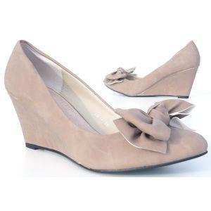 Chers Chaussures Wedge Augmentation de Nœud Papillon Noir,Confortable,38