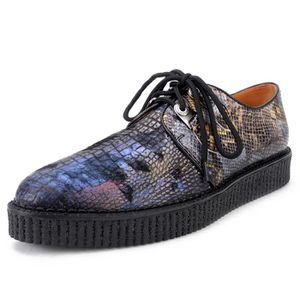 DERBY Derby Homme Cuir Platform Creepers Lacets Oxford C