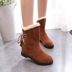 BOTTE Bottes de neige Bottines d'hiver Femme Chaussures