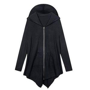GILET - CARDIGAN Manches longues à capuche Cardigan blouse Veste de ... c4acf9b8c0a