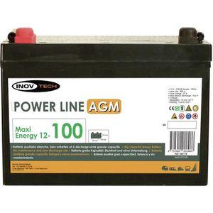 BATTERIE VÉHICULE ELEKTRON Batterie Auxiliaire Power Line AGM 100 A