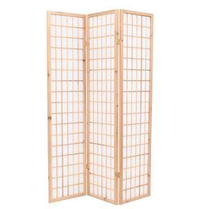PARAVENT Cloison de séparation 3 panneaux Style Japon 120x1