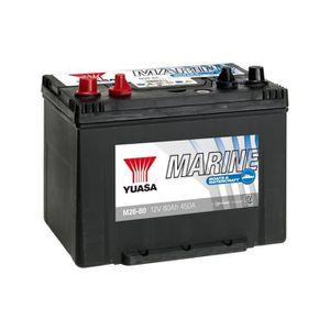 BATTERIE VÉHICULE Batterie decharge lente 12v 80ah yuasa M26-80