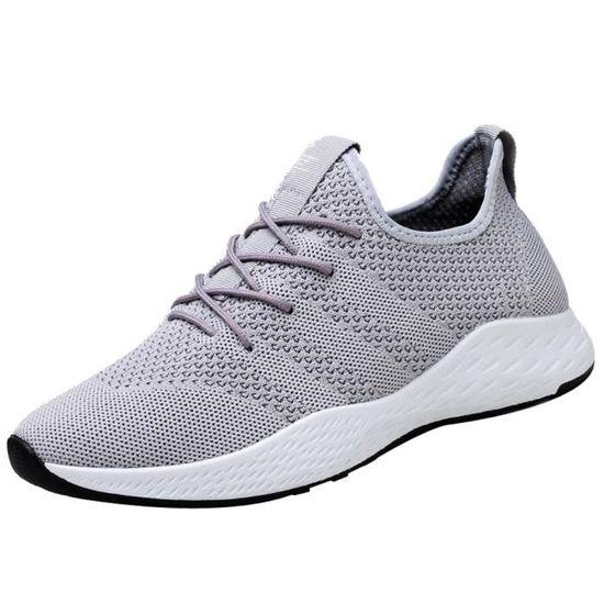 Respirant Hommes Chaussures de sport de haute qualité confortable non-Slip Chaussures souples Mesh Hommes  Gris LYH80822416GY Gris Gris - Achat / Vente slip-on