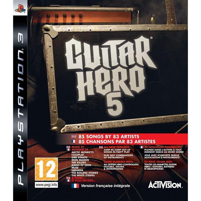 JEU PS3 GUITAR HERO 5 / JEU CONSOLE PS3