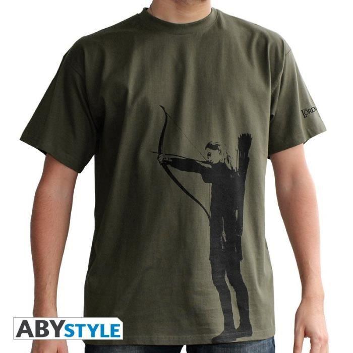 T-shirt Homme Le Seigneur des Anneaux : Legolas - Kaki