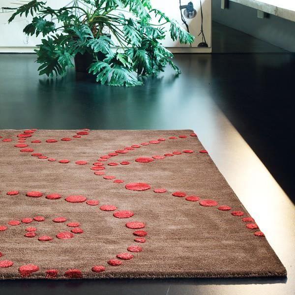 tapis en laine eclipse chocolat par ligne pure achat vente tapis cdiscount. Black Bedroom Furniture Sets. Home Design Ideas
