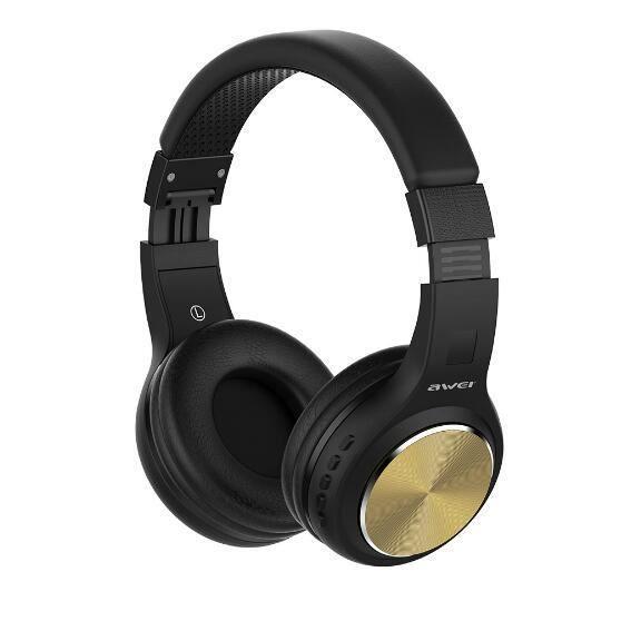 D'origine Awei Bluetooth Sans Fil Sur-écouteurs Intra-auriculaires Stéréo Son Annulation De Bruit Avec Micro Hifi Écouteurs