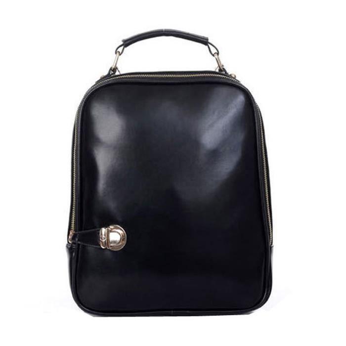 a double usage sac a dos sac a main des femmes Pour Tablet Satchel en faux cuir noir Sac a dos
