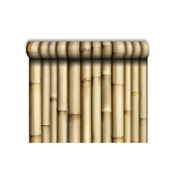 Papier peint trompe l 39 oeil bambou achat vente papier peint papier peint trompe l 39 oeil - Papier trompe l oeil ...