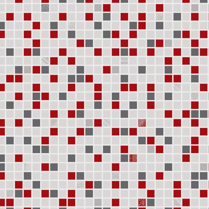 papier peint cuisine et salle de bain checker rouge 52cm x. Black Bedroom Furniture Sets. Home Design Ideas