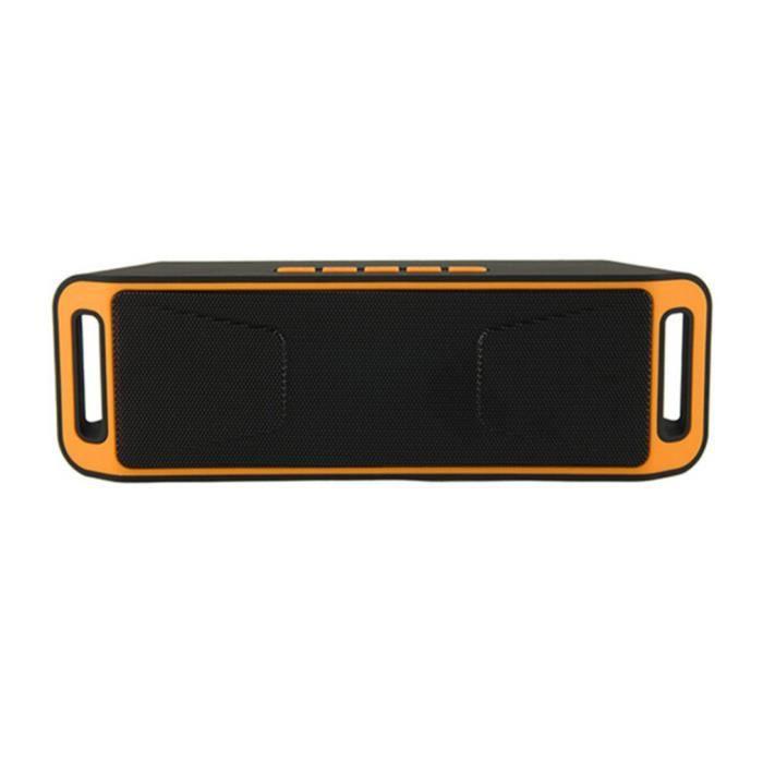 Outdoor Haut-parleur Bluetooth 3.0 Y30 Boîte À Musique Sans Fil Speaker Portable Super Bass Lecteur Mp3 - Orange