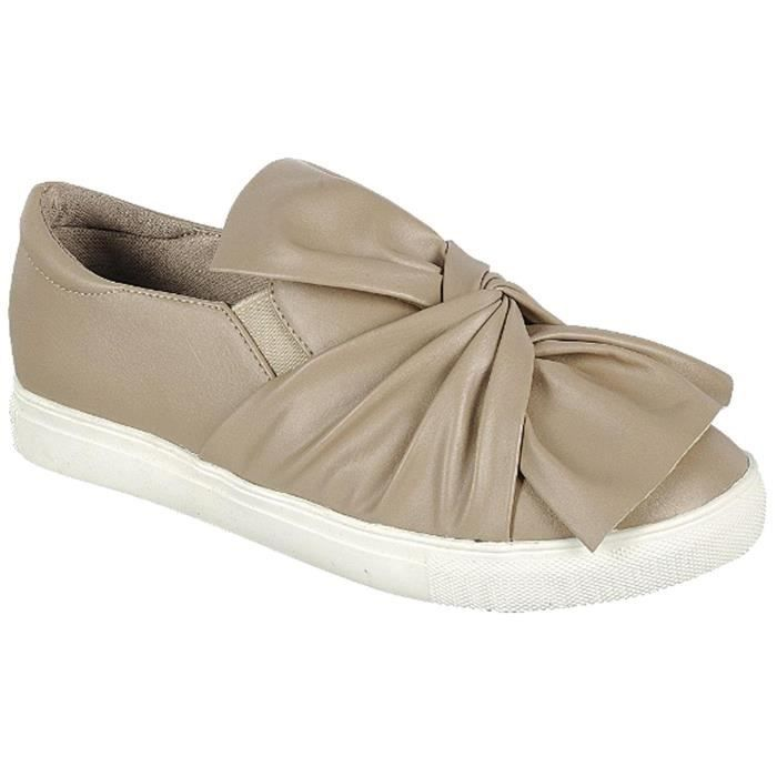 Slip On Ruched Tie Fashion Sneaker ZQIN9 Taille-40