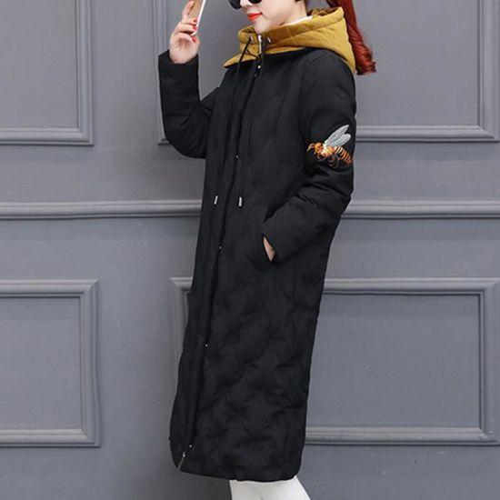 Hiver Pardessus Coton Slim Femmes Outwear Long Jacket Ert2498 Épais Chaud Parka Capuche Confor w6AqUA