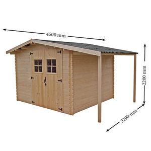 abri en bois achat vente abri en bois pas cher. Black Bedroom Furniture Sets. Home Design Ideas