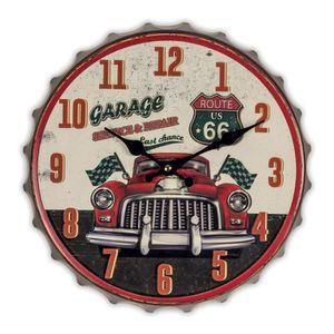 OBJET DÉCORATION MURALE Horloge capsule Route 66, déco vintage US ,américa