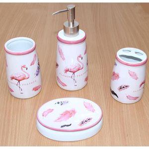 SET ACCESSOIRES Set de salle de bain Flamingo